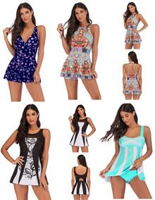 2019 Plus Size to Slim Women Lady  Swimwear Bikini Swimsuit  9078 S-5XL