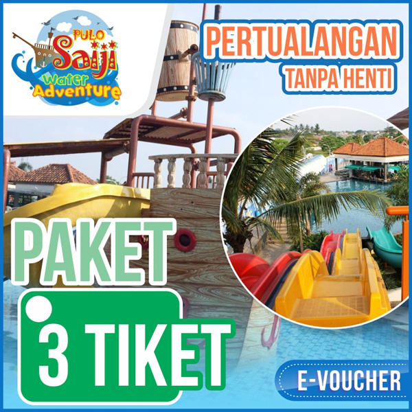 ?Pulo Saiji water adventure? Big Discount Tiket Masuk dan paket Water Park Weekend/weekday/libur? Deals for only Rp50.000 instead of Rp50.000
