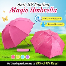 Anti-Uv Coating Magic Umbrella / Lightweight / Heat and UV Reduction / Flower Prints