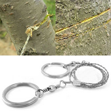 Sporting Gifts Silver Steel Wire Saw Scroll Outdoor Survival Tool