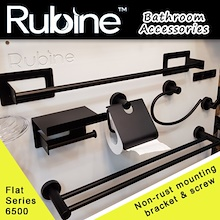RUBINE Black color Bathroom Accessories/Flat 6500 Series/Toilet Hook/Towel Rod