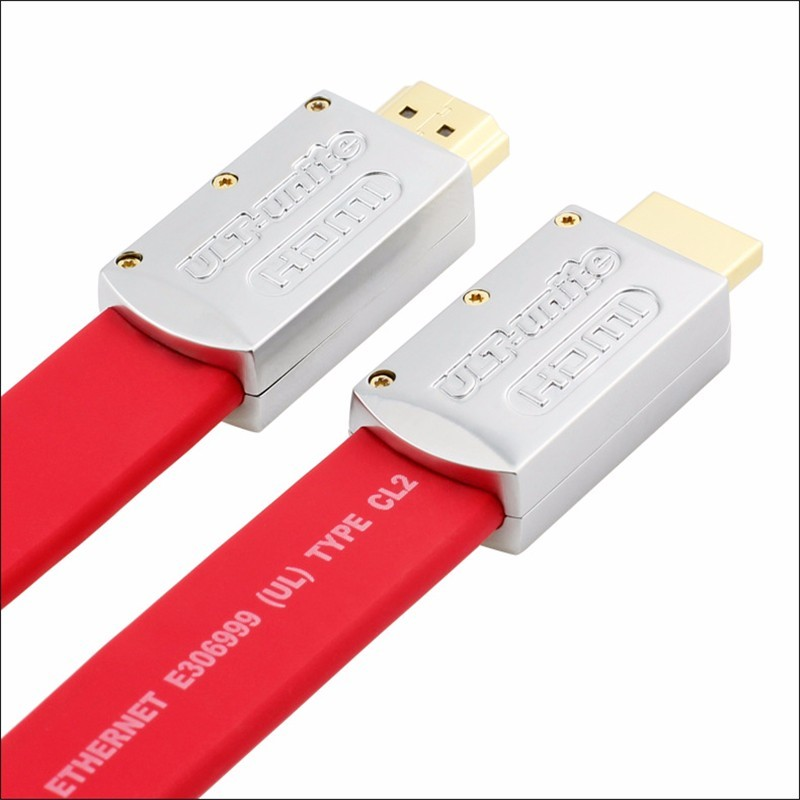 ULT-unite High Speed Version HDMI Cable Male To Male 4K Gold Plated Flat  Cable for HDTV LCD Laptop