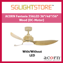 SgLightStore - Acorn Fantasia DC356 - 36/46/56 Inch (Wood)