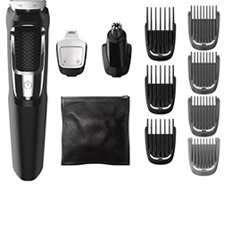 Philips Norelco Multi Groomer MG3750/50 - 13 piece, beard, face, nose, and ear hair trimmer and c...