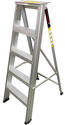 Ladder Aluminium Heavy Duty 3-12 step with Anti-Slip Surface.Max Load Capacity up to 150KG