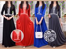 Batique Design Jubah Dress - BOWJ-537