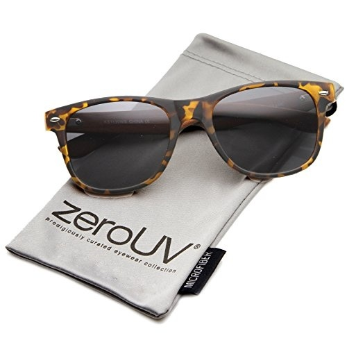 d27e8b65086 fit to viewer. prev next. zeroUV - Classic Eyewear 80 s Retro Large Horn  Rimmed Style Sunglasses