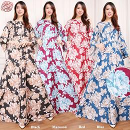 Maxi Dress Jihan Gamis Bunga Longdress Jumbo Wanita