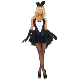 Sexy Fashion Women&#39 s Tux and Tails Bunny Costume Set