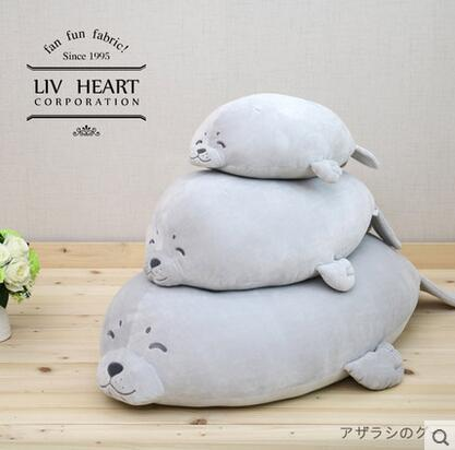 Hot  Japan Liv Heart Seal Plush Toy Doll Pillow High Quality Soft Stuffed Animal