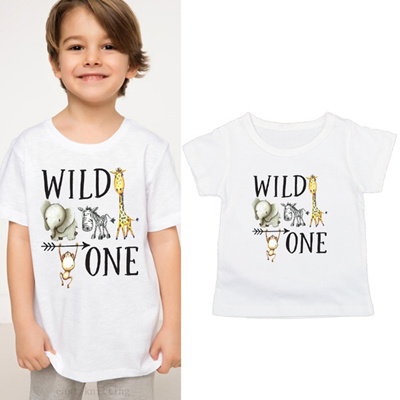 Wild One Baby Birthday Shirt Girl Toddler Boy Clothes Graphic For Gift Tee