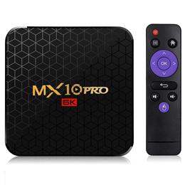 MX10 Pro 6K TV Box Android 9.0 AllWinner H6 / 2.4G WiFi / 100Mbps / USB3.0
