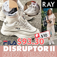 [FILA] [Buy Get Free Gift] ♥Get Qoo10 Coupon $10♥ 100% Authentic♥ FILA RAY Shoes / Sneakers /DISRUPTOR