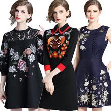 High quality dress elegant dress/European British style/Office dress/Longer dress/plus size dress