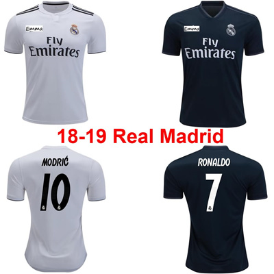 18-19 Real Madrid Soccer Jersey S-4XL Real Madrid Home Away Men Women a786413ea