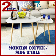 MODERN COFFEE SIDE TABLE / LIVING BEDROOM USE / SELF DIY / ROUND TRIANGLE SHAPE / STORAGE