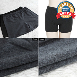 Winter Women Brushed Underpants Mid Waist Comfort Lingerie Napping Warm Underwear / Made in KOREA