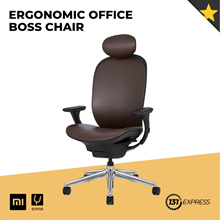 Xiaomi YM Ergonomic Office Boss Chair [PU Leather/ Multiple Adjustment/ Reclinable/Easy Install]
