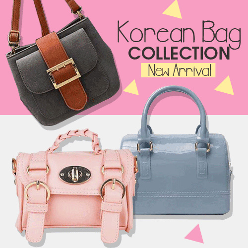 FREE SHIPPING! PROMO SALE TAS FASHION KOREA 2018! GRAB 1 TODAY! Deals for only Rp69.000 instead of Rp69.000