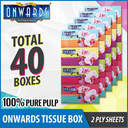 [SCANPAP] Carton Sales*ONWARDS Facial Tissue Box [40boxes]