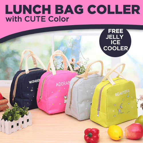 Lunch Bag Coller with Cute Color Deals for only Rp43.000 instead of Rp43.000