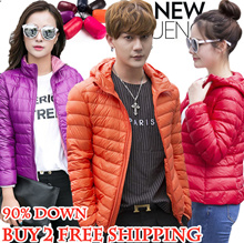 2017 Ultra Light Foldable down Jacket / Women Men Children Winter jacket / Travel coat Vest / Brand
