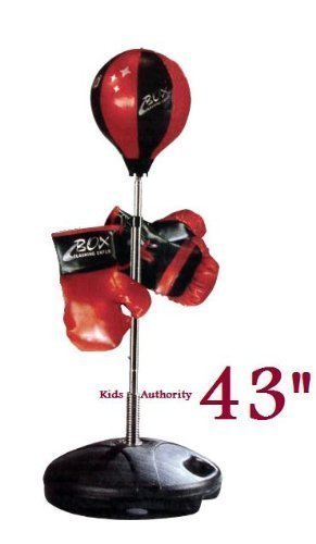 Kids Authority Children Boxing Set Punching Bag With Gloves And Adjule 80 110cm 32 43inch Stan