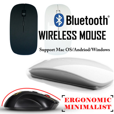 [JD MALL] Bluetooth Wireless Mouse Support MAC OS/Android/Windows Slim Design High accuracy Deals for only S$49 instead of S$49