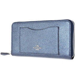 6f9ac5b77027 Coach purse COACH outlet cross grain leather accordion zip around   long  wallet F21068 SVLBI