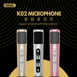 REMAX K02 Microphone For iOS iPhone X XS MAX 8 7 6 6S Plus Samsung Note 9 8 S10 S9 PC Recorder
