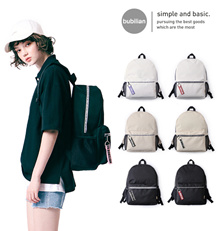 [BUBILIAN] Bubilian Genuine Zipper Point Backpack 6 Color