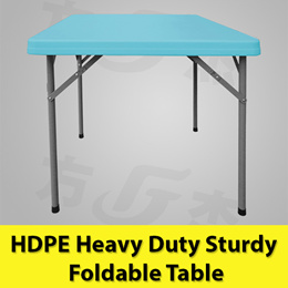 HDPE Square Sturdy Heavy Duty Folding Foldable Portable Table /Study / Outdoor /Events