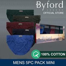 BYFORD 5PCS MENS BRIEFS MINI | ASSORTED #836417 - SEASONAL