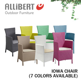 [Allibert Outdoor Furniture]Iowa Chair (7 Colors Available)