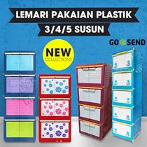FREE ONGKIR JABODETABEK - Lemari Pakaian Plastik Miniclub 3-4-5 Susun