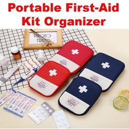 First-Aid Kit Organizer Portable Compact Medical Storage Bag Bandages Emergency Medicine Tour Travel