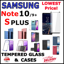 [SG] ★SAMSUNG Note 10+/10/S10+/S10/S9 Plus★ Tempered Glass Screen Protector / Case Casing