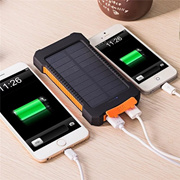 New 20000mAh Dual USB Solar Power Bank Portable Charger with LED Light for iPhone,Cell Phone,Tablet,