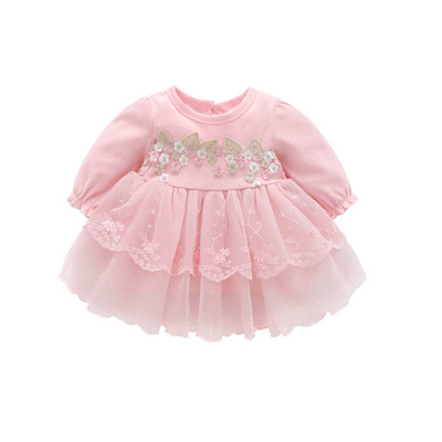 7409257708a35 store MUQGEW 2019 Autumn Infant Baby Kids Girls Party Lace Tutu Princess  Dress Clothes Outfits Long