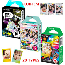 Fujifilm 10 Sheets Mickey Alice One Piece Winnie Cartoon Instant Photo Paper Film For Fuji Instax