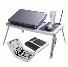 Meja Laptop Portable Lipat (LAPTOP PORTABLE DESK) + Cooling Pad merek E-TABLE