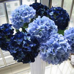 Mercure bright blue sea shell large hydrangea hydrangea flower artificial flower silk flower weddi