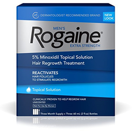 Mens Rogaine Extra Strength 5% Minoxidil Topical Solution for Hair Loss