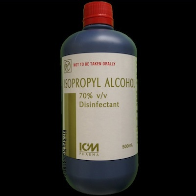 Isopropyl Alcohol 70%  Disinfect sterilise surfaces or objects  Kills  bacteria and germs  500ml