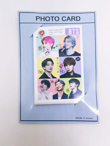 Bangtan boys BTS goods signed photo card 10pcs