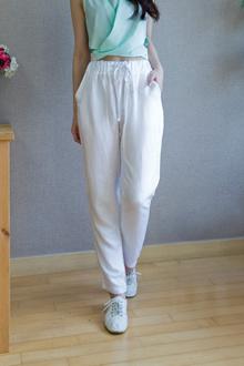 waist banding baggy pants