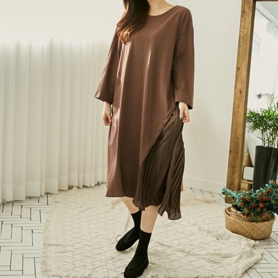 イニクアコーディオン・ルージュOPSワンピース 綿ワンピース/ 韓国ファッション