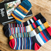 US 17.20. New men 39s stockings fashion color striped men 39s socks fall  and winter cotton a415a56dc5