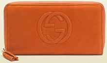 Gucci long wallet round fastener orange 308004 AHH 2 G 6331