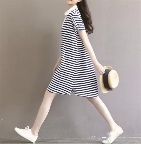 レディースワンピース 大きいサイズ さわやか ボーダー ファッション ハイセンス 着心地いい おしゃれ 夏 セール★ レディースワンピース